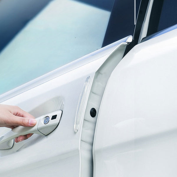 Muselot's transparent car door and edge guards or protectors to keep dents, scratches, bumps and scuffs off the car. Blends easily with every car color and protects all easily prone edges of the car with the strong TPU flexible material that simply bounces back on collision.