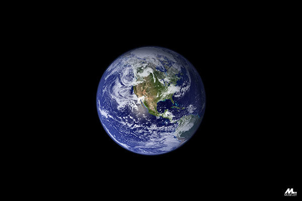 Planet Earth, which  is commonly seen as feminine, the great mother.