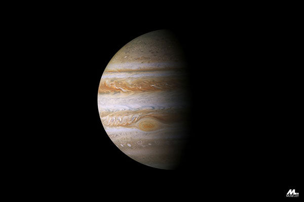 Planet Jupiter, which is a symbolism of luck.