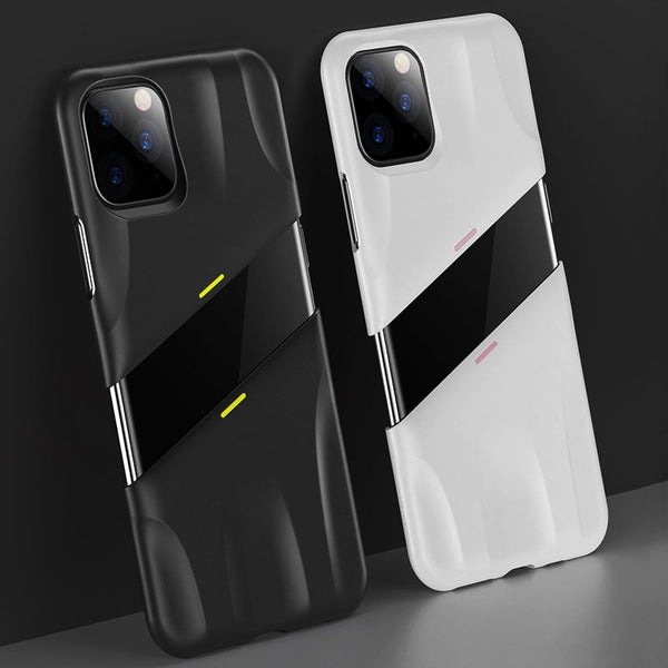 Muselot's unique split design case for iPhone 11 series allows for heat dissipation, smooth gaming experience, anti-slip grip and protects your phone from falls and collisions with its shockproof body. These are also stain-resistant and protects your camera lens from scratches.