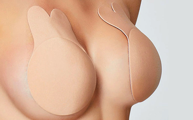 Rabbit lift up invisible bra in beige / nude color which lifts your breasts up higher and lets you wear any type of deep V, backless and strapless outfits. Has a really strong adhesive which provides you a lasting stickiness enough to be used multiple times. Rabbit bra makes your breasts appear perkier and offers painless removal from the soft nipple area.