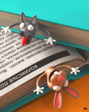 Muselot's funny animal bookmarks for books to bring some attention to book reading. Super cute and squashed animals will keep your books wide open and relieve your sore thumbs, perfect to be gifted as they come with beautiful packaging.