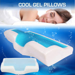 Muselot's memory foam cooling gel pillows which is a healthy way to sleep faster and better. Keep your neck in correct position all night, avoids jitters, prevents cervical issues, provides soothing chill to your head in warm summer days, great for travels, prevents sore and stiff neck or back, and enhances the quality of sleep.
