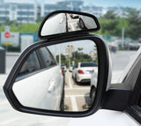 Muselot's wide-view blind spot rear mirror to eliminate the risk of blind spots when driving. It gives you 50% more viewing angle than any other blind spot mirror and doesn't cover the space on your rear mirror as these are mounted over it. Helps prevent accidents, align your car in parking even in tight spaces, avoids scratches and dings, and enables backing up your car like a pro.
