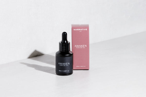 Awaken perfume parfum oil dropper bottle