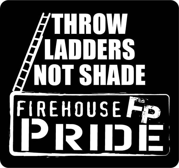 Throw Ladders Not Shade Reflective Helmet Sticker