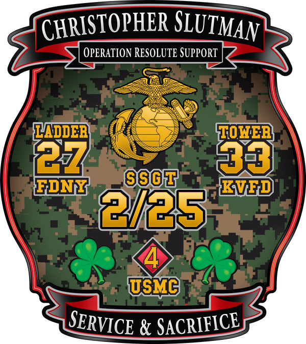 SSGT Christopher Slutman Memorial Sticker