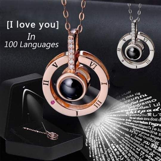 "Amare™100 Languages ""I LOVE YOU"" Ring,Necklace(Ring is adjustable)"
