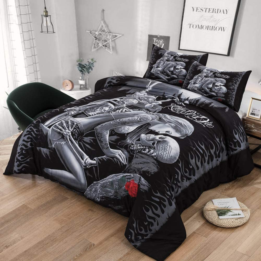 Skull Rider Couples - Bedding Set Charmerri™
