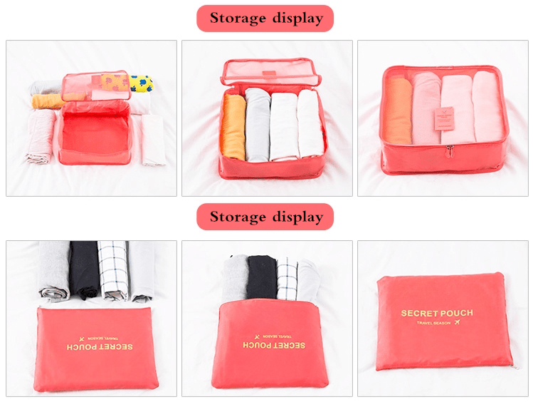 ONGO™ Travel Luggage Packing Organizer Set