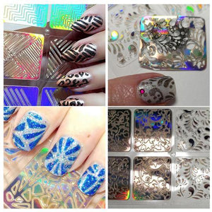 Hollow Nail Stencil Stickers