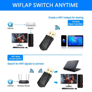 Wireless USB WIFI Adapter 600Mbps Dual Band