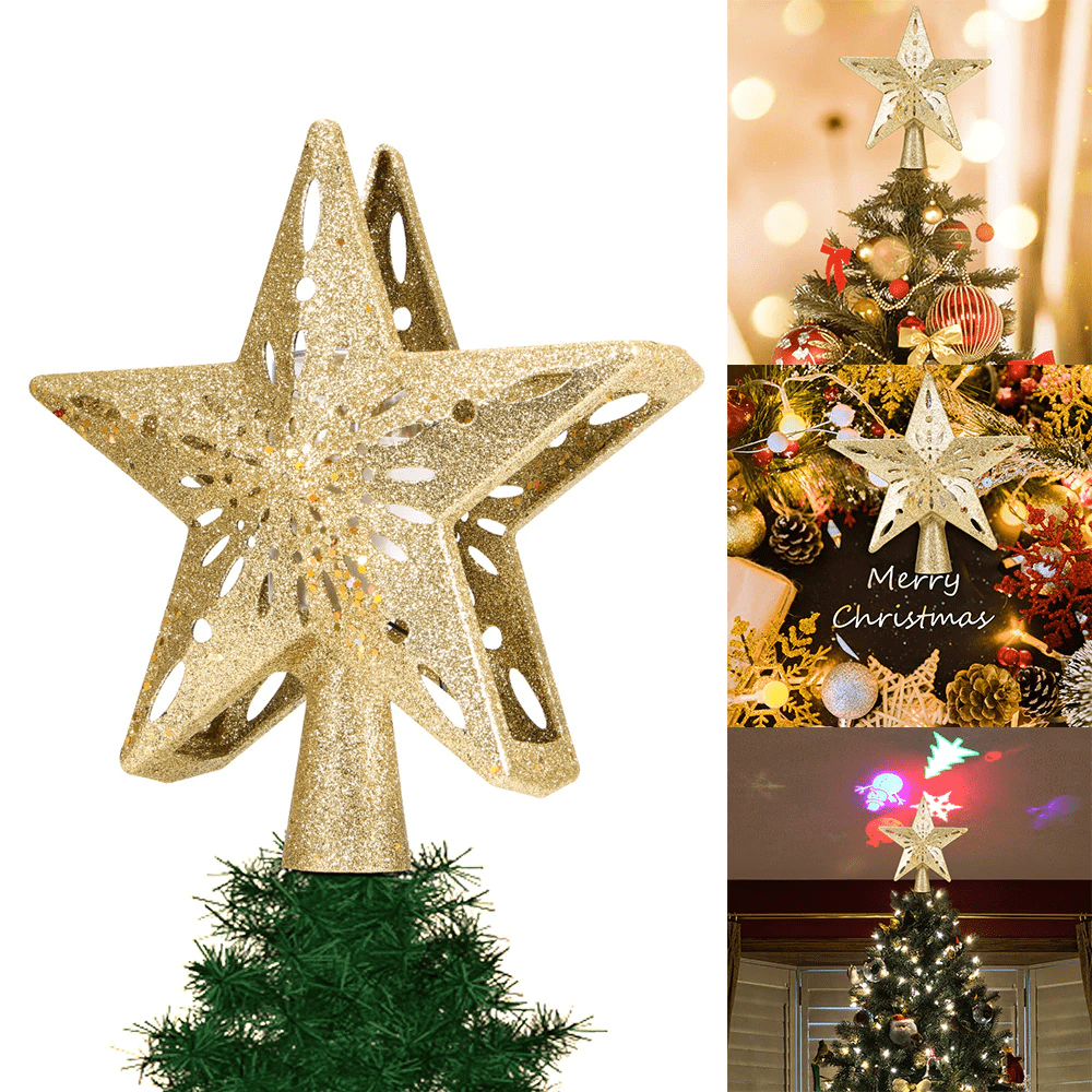 Homerri 2019 Projection Star Christmas Tree Topper