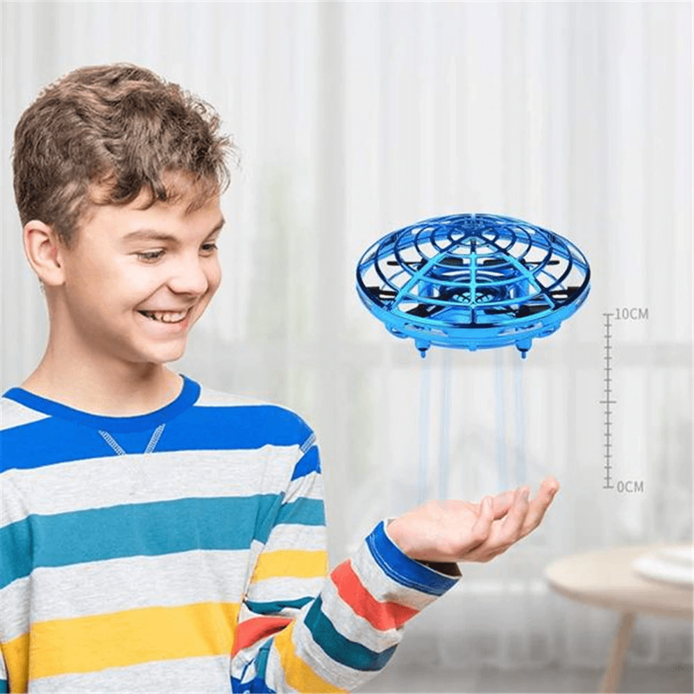 Homerri Blue AIRSPIN™ HAND-CONTROLLED FLYING MINI-DRONE