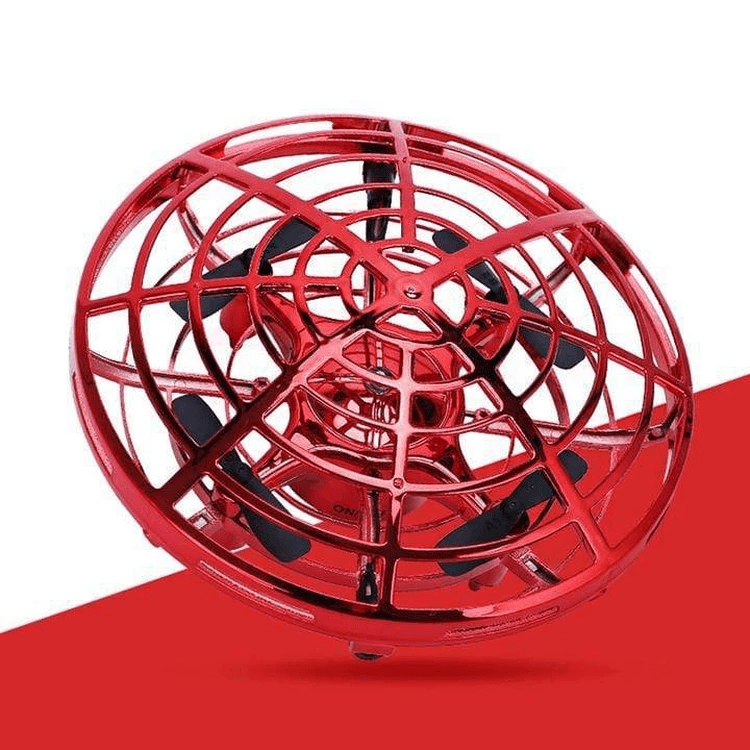 Homerri Red AIRSPIN™ HAND-CONTROLLED FLYING MINI-DRONE