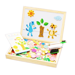 Homerri JUNGLE B EDUCATIONAL MAGNETIC BOX (WITH WHITEBOARD & CHALKBOARD)