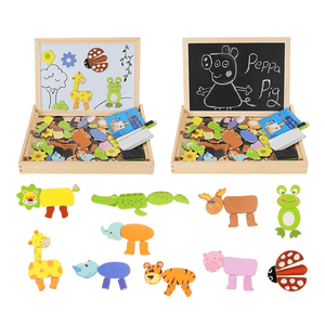 Homerri EDUCATIONAL MAGNETIC BOX (WITH WHITEBOARD & CHALKBOARD)