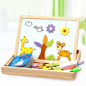 Homerri JUNGLE A EDUCATIONAL MAGNETIC BOX (WITH WHITEBOARD & CHALKBOARD)
