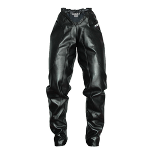 HIGH LOW PANTS in BLACK LEATHER