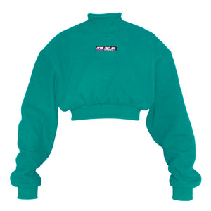 GUNTHER CROP SWEATER TURQUOISE