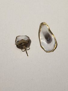Folly Oyster Post Earrings - The Look By Lucy