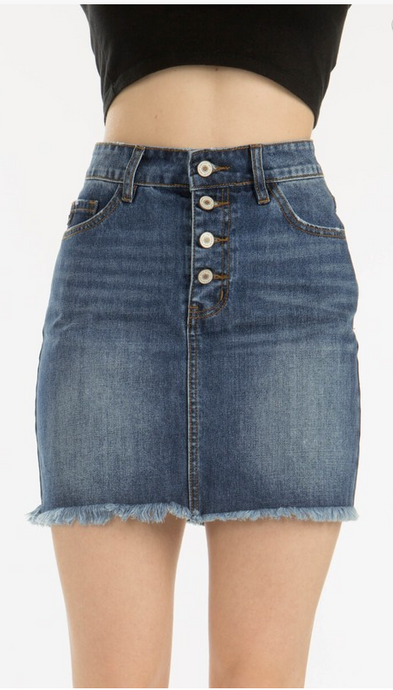 Avery Denim Skirt - The Look By Lucy