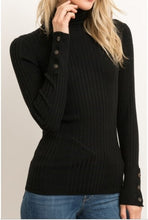 Load image into Gallery viewer, Stacy Black Turtleneck Sweater - The Look By Lucy