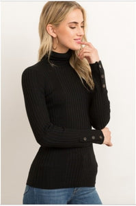 Stacy Black Turtleneck Sweater - The Look By Lucy