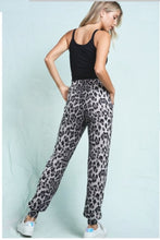 Load image into Gallery viewer, Brittany Grey Leopard Drawstring Hogger Pant - The Look By Lucy