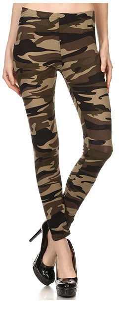 Courtney Camo Leggings - The Look By Lucy