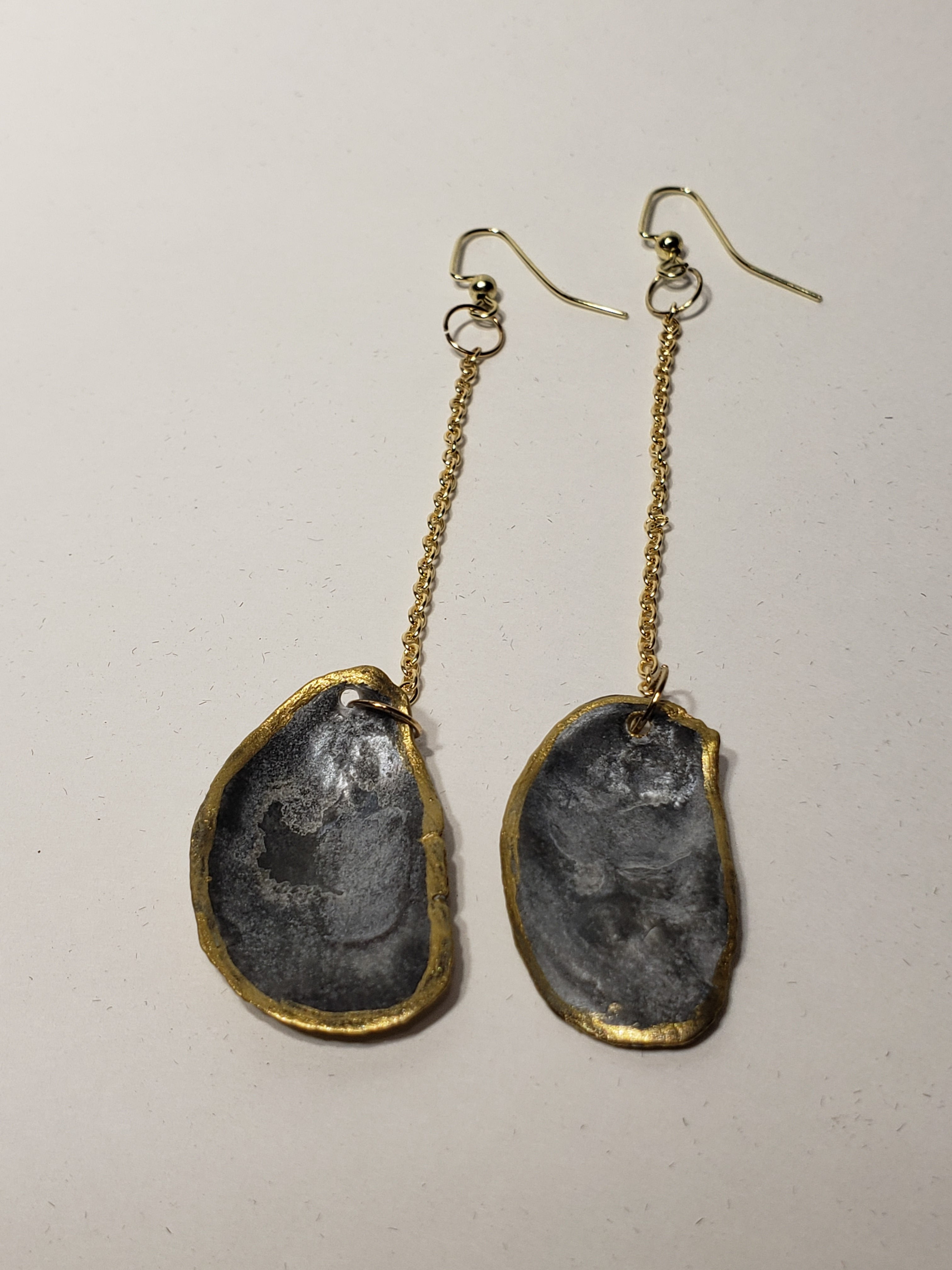 Charleston Oyster Shell Earrings - The Look By Lucy