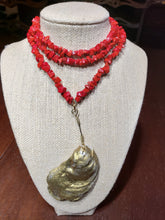 Load image into Gallery viewer, Red Oyster Necklace - The Look By Lucy