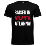 Raised In ATLANNA - Logo Tee (Black/White/Red)