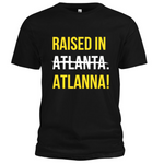Raised In ATLANNA - Logo Tee (Black/Yellow/White)