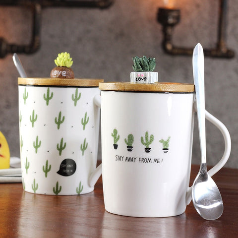Mugs: Cactus w/ spoon