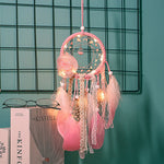 Handmade Dream Catcher and Lights