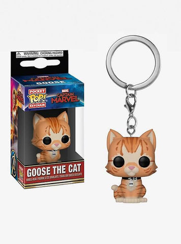 Pocket Pop! Keychain: Captain Marvel - Goose the Cat