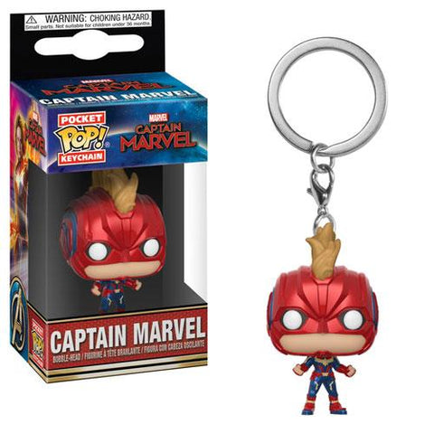 Pocket Pop! Keychain: Captain Marvel - Captain Marvel (w/Helmet)