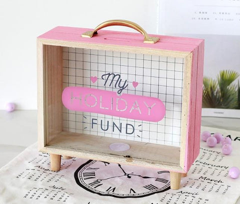Piggy Bank: Money Coin Box - My Holiday Fund