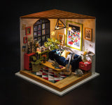 Miniature House : Locus's Sitting Room with LED Light