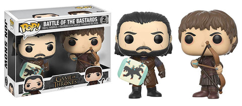 Pop! Television Vinyl Game Of Thrones Jon Snow & Ramsay Bolton Battle of the Bastards