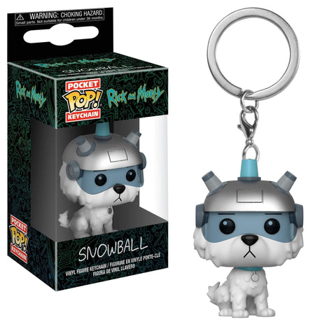 Funko Pocket Pop! Keychain: Rick and Morty - Snowball