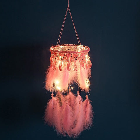 Fluffy Pink Dream Catcher