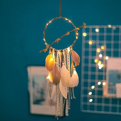 Retro Handmade Dream Catcher and Lights