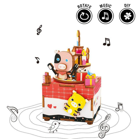 Music Box Kit with Hand Crank: Happy Birthday