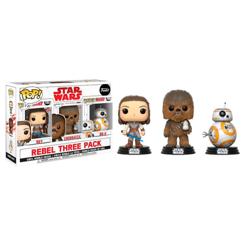 POP! pack 3 figures Star Wars VIII The Last Jedi Good Guys Exclusive