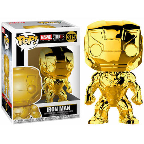 POP figure Marvel Studios 10 Iron Man Gold Chrome