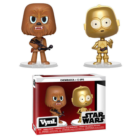 Vynl figures Star Wars Chewbacca & C-3PO