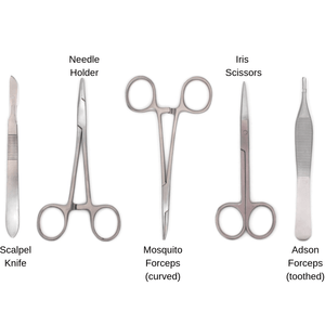 stainless steel suturing medical instruments