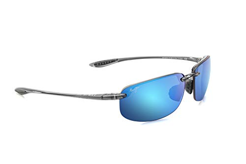 Maui Jim Ho'okipa Rectangular Sunglasses, Smoke Grey/Blue Hawaii Polarized, Medium
